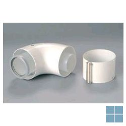 Bulex bocht alu-pp 90° Ø 60/100 (oud nr A2032900) | 0020257009 | LAMO