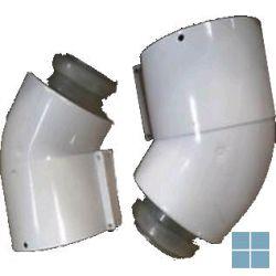Bulex bocht alu-pp 45° Ø 60/100 ( twee stuks) | 0020257010 | LAMO