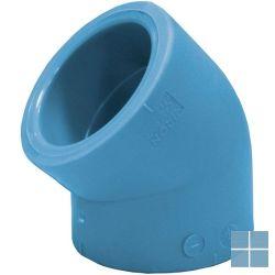 Niron ppr bocht blauw 45° dia 32 | 03NC4532 | LAMO