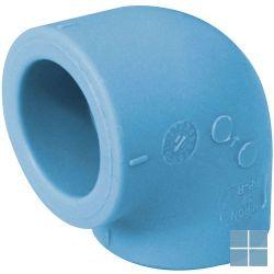 Niron ppr bocht blauw 90° dia 32 | 03NG32 | LAMO
