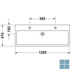 Dur. vero wandhangend , 2 kraangaten 120x47 cm wita keramiek | 0454120024 | LAMO