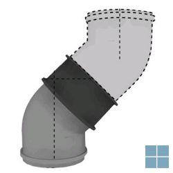 Bulex bocht alu-alu  45° Ø 80/125 (1 stuk) | 08510200 | LAMO