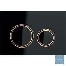 Geberit duwplaat sigma21, 2 toetsen, zwart glas / rood goud / zwart glas | 115.650.SJ.1 | LAMO