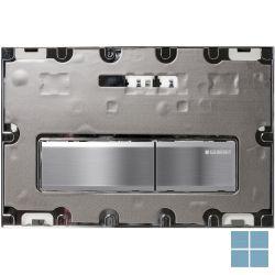Geberit duwplaat sigma50 personaliseerbaar glas mat 2 toetsen | 115.788.00.2 | LAMO