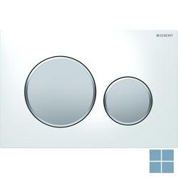 Geberit duwplaat sigma20, 2 toetsen, wit / mat verchroomd / mat verchroomd | 115.882.KL.1 | LAMO