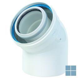 Ubbink concentrische buis 45° pp/metaal dia 100/150 | 120094 | LAMO