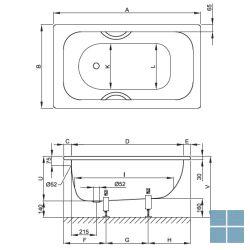 Bette labette inbouwbad 124x70x42 cm wit | 1240-000 | LAMO