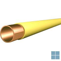 Koper buis gele mantel 22 x 1 hard op lengte van 5 m prijs/m | 133871 | LAMO