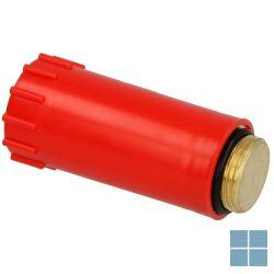 Lm bouwstop koper aansluiting 1/2 m rood   14376   LAMO