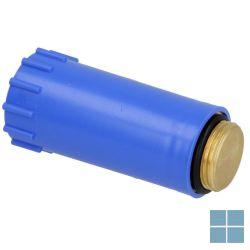 Lm bouwstop koper aansluiting 1/2 m blauw   14377   LAMO