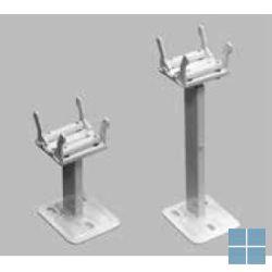 Superia standvoet kort (2pc) voor type 22/33 - wit 13-20cm incl.roset | 14911830917 | LAMO
