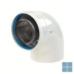 Ubbink bocht concentrisch 90° alu/alu dia 80/125 (os) | 169164 | LAMO