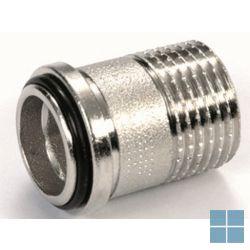 "Begetube aansluitstuk radiator 1/2""  + o-ring, excl. moer | 182.003.005 | LAMO"