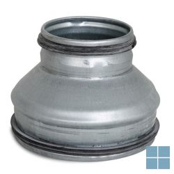 Ventilair galva symetrisch verloopstuk dia 250 - 125 met rubber | 2002000051 | LAMO