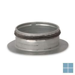 Ventilair galva recht aftakstuk dia 125 met rubber | 2002000306 | LAMO