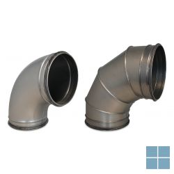 Ventilair galva bocht 90° dia 125 met rubber | 2002000381 | LAMO