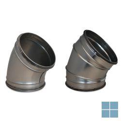 Ventilair galva bocht 45° dia 160 met rubber | 2002000433 | LAMO