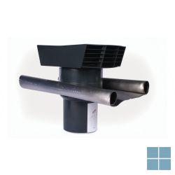 Ventilair kunststoffen dakkap zwart met loodslab dia 160 | 2019000416 | LAMO