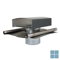 Ventilair metalen dakkap zwart met loodslab dia 200 | 2019000419 | LAMO