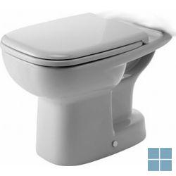 Dur. d-code staand verticale afvoer 53x35 cm wit keramiek | 21110100002 | LAMO