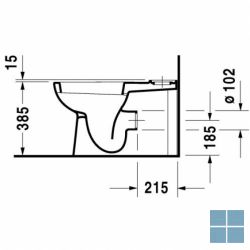 Dur. d-code staand vario afvoer 65x35.5 cm wit keramiek | 21180900002 | LAMO