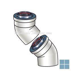 Ubbink concentrische bocht 45° alu/kunsstof dia 80/125 | 224050 | LAMO