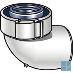 Ubbink concentrische bocht 90° alu/kunststof dia 60/100 | 227233 | LAMO
