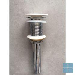 Ideavit pop-up drainage (click-clack), cover solid surface wit mat, gn overloop | 281148 | LAMO
