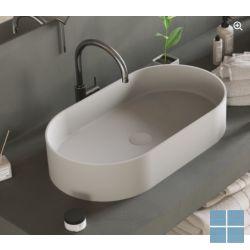 Ideavit Solidthin opzetkom ovaal 60x35x12,5cm wit mat   281616   LAMO