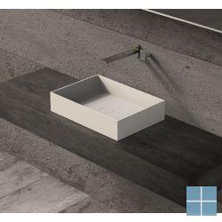 Ideavit solidjoy opzetkom b500×d350×h110mm, solid surface wit mat, gn overloop   285074   LAMO