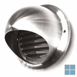 Ventilair bolrooster inox met gaas dia 100 | 3007000049 | LAMO