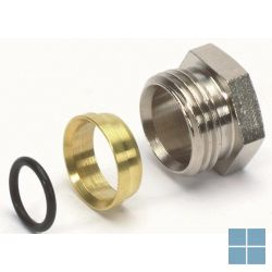 "Begetube snijringverbinding 1/2"" m x 15 mm + o-ring | 306.010.412 | LAMO"