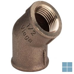 Viega brons bocht 45° ff dia 4/4 | 320652 | LAMO
