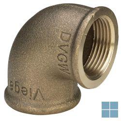 Viega brons bocht 90° ff dia 3/4 - 1/2 | 320669 | LAMO