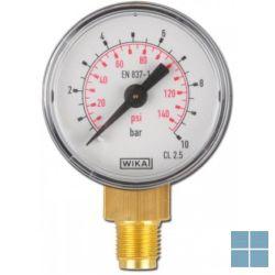 Watts inox manometer achteraansl glyc/axiaal 1/4 fr 114 dn63 0 - 4 bar   3433104   LAMO