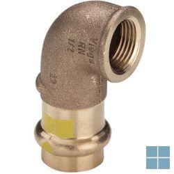 Viega profipress gas brons bocht 90° dia 22 x 1/2f | 345860 | LAMO