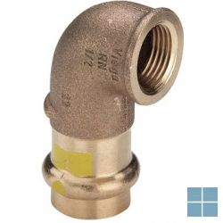 Viega profipress gas brons bocht 90° dia 22 x 3/4f | 345877 | LAMO