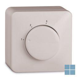 Ventilair opbouwdoos voor 3 standenschakelaar creme wit | 4009000005 | LAMO