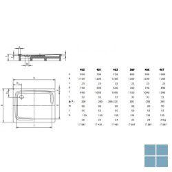 Kaldewei superplan model 401-1 douchetub rechthoekig 120x70x 2.5 cm wit | 430100010001 | LAMO