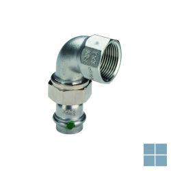 Viega inox schroefkoppeling bocht 90° 28 x 4/4f | 437343 | LAMO