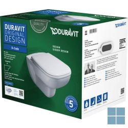 Dur. d-code hangtoilet rimless 54.5x35.5cm softclosezitting wit keramiek | 45700900A1 | LAMO