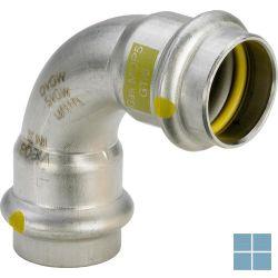 Viega inox gas bocht 90° ff dia 22   485801   LAMO