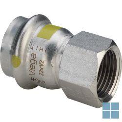 Viega inox gas overgangskoppeling dia 22 x 3/4f   486884   LAMO