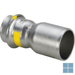 Viega inox gas verloopstuk dia 22f x 15f   487119   LAMO