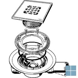 Viega advantix systeem 100 vloerafvoer 150 x 150mm | 557157 | LAMO