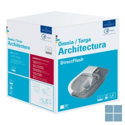V&b architectura directflush hangtoilet softclosezitting ceramicplus keramiek | 5684HRR1 | LAMO
