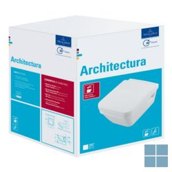 V&b architectura hangtoilet directflush softclosezitting 37x 53 cm wit keramiek | 5685HR01 | LAMO