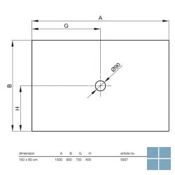 Bette bettefloor douchetub rechthoekig 150x80 cm wit | 5937-000 | LAMO