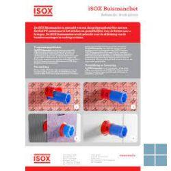 Isox 2 buismanchetten 22 tot 37mm afdichting 140x140mm   6006140014   LAMO