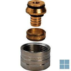 Viega fonterra schroefkoppeling mat-vernikkeld 12mm x 3/4 | 614508 | LAMO